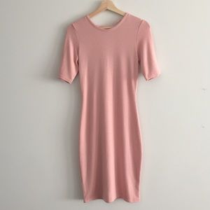 Aritzia - Wilfred Free pink lace up dress